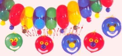 Partydekoration mit Ringballons
