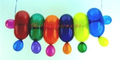 Ringballons, Partydeko, Kinderparty, Geburtstagsparty