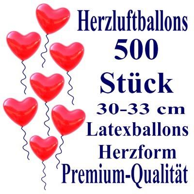 Herzluftballons-Premium-Rot-500-Stück