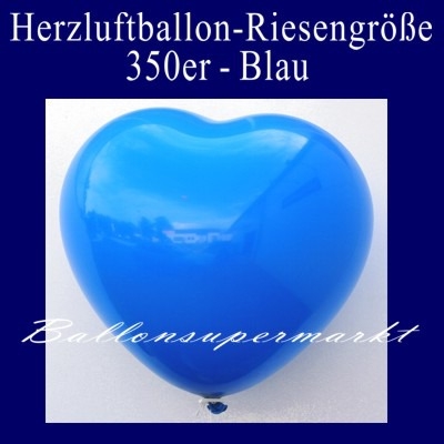 Herzluftballon-Riesenluftballon-Riesenballon-Herz-Blau
