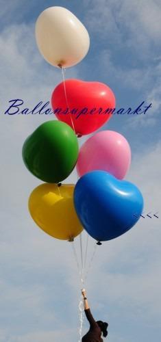 Riesenherzluftballon-Blau-350er
