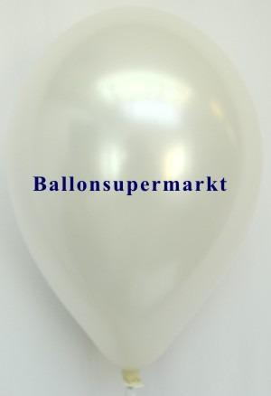 Luftballon-Weiss-Metallicfarbe