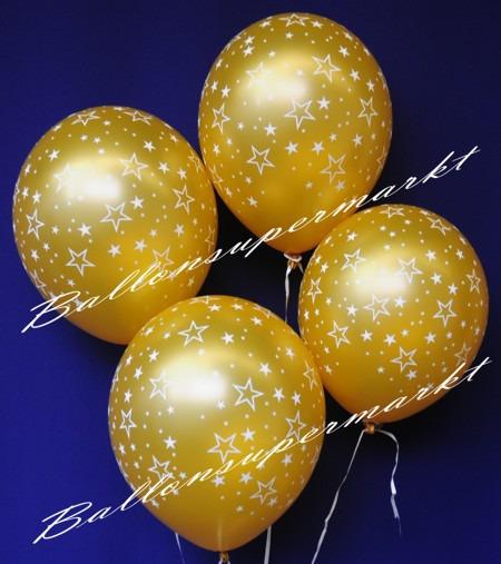 Luftballons-in-Gold-mit-Sternen