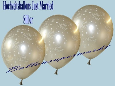 Just-Married-Hochzeitsballons-Latex-Luftballon-silber