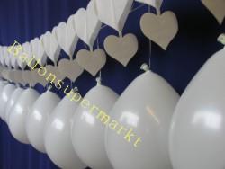 Hochzeitsdekoration Herzgirlande Luftballons 05