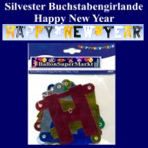 Letter-Silvestergirlande-Happy-New-Year-Silvesterdeko
