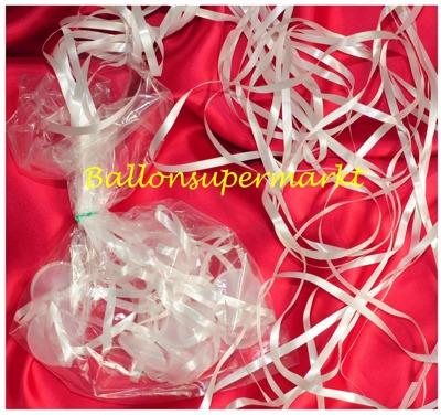 10 Stück Ballonbänder mit Schnellverschlüssen