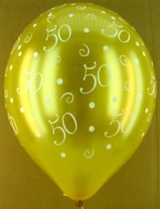 Goldene Hochzeit Ballons