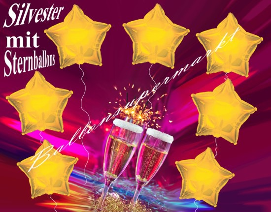 Silvester-Sternballons
