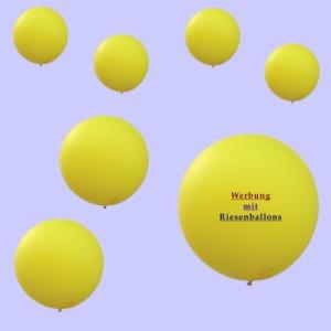 Werbung mit Riesenluftballons