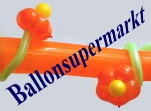 Ballondekoration-mit-Blueten-Luftballons
