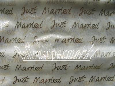 Organza Deko Stoff Hochzeit Just Married