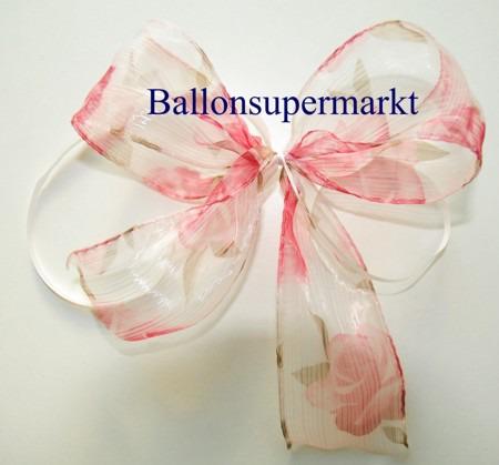 Deko-Zierband-Schmuckband-Rose-Zierschleife