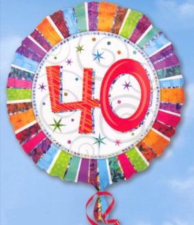 Folienballon: 40. Geburtstag
