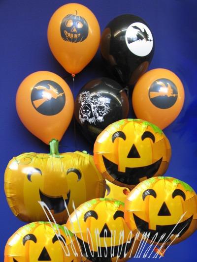 Partydeko Halloween, Luftballons mit dem Helium-Einwegbehälter