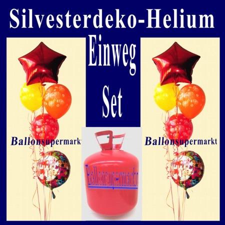 Silvesterdeko-Luftballons-Helium-Einweg-Set