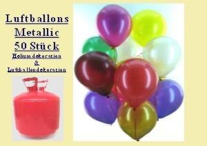 Set bestehend aus Luftballons, Helium, Ballonbänder