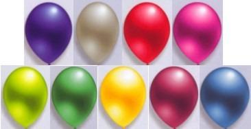 Luftballons in schönen Farben