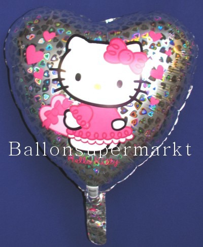 Luftballon Hello Kitty Herz