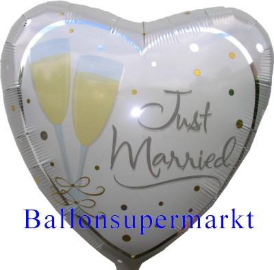 Hochzeit Just Married Luftballon