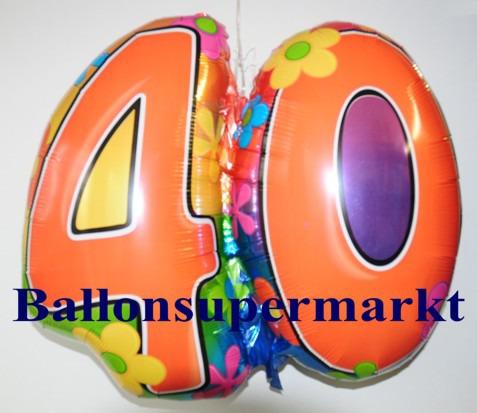Geburtstag-40-Flower-Power-Luftballon-aus-Folie