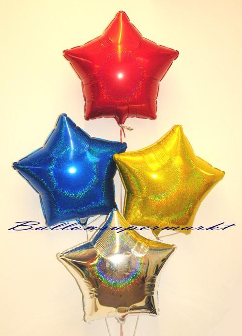 Silvesterdeko-Holo-Stern-Luftballons