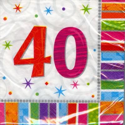 40. Geburtstag Deko Servietten
