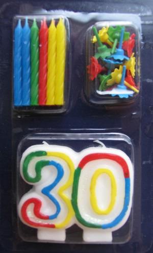Geburtstagskerze 30. Geburtstag