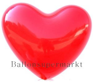 Herzluftballons Rot