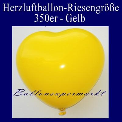 Herzluftballon-Riesenluftballon-Riesenballon-Herz-Gelb