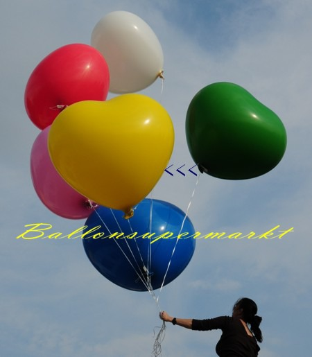 Riesenballon-Herzballon-riesiger-Herzluftballon-Gelb