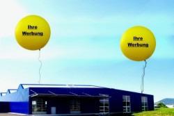 Riesenballons, Riesenluftballons, riesige Werbung