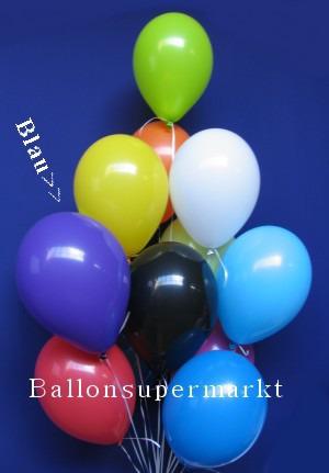 Luftballontraube Standard Rundballons Oval Blau