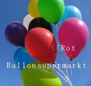 Luftballontraube Standard Rundballons Oval Rot