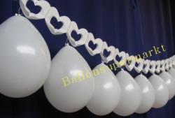 Hochzeitsdeko Luftballons Herzgirlande 3
