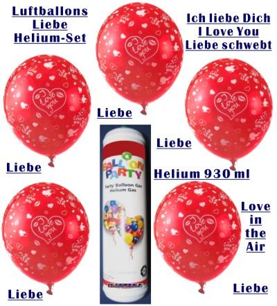 Luftballons Liebe Helium Set