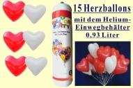 Herzballons zur Hochzeit, Helium Einweg und Luftballonherzen