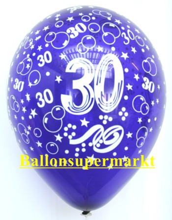 Zahlenluftballons-Geburtstag-30-Kristallfarben