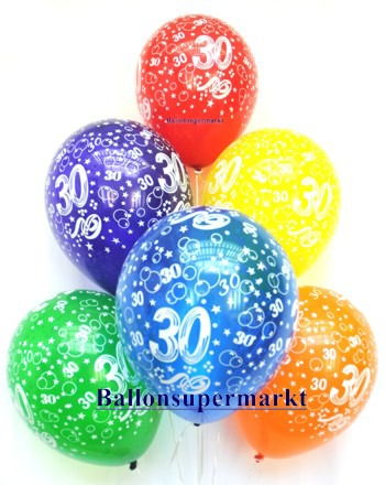 Zahlenluftballons-Geburtstag-30