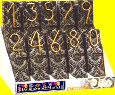 Wunderkerzen mit Zahlen in Gold, Hochzeitsfeier, Jubiläumsfeier, Partydekoration, Geburtstag