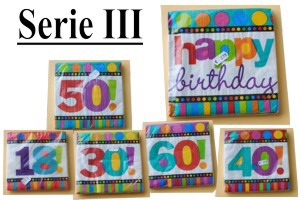 Geburtstagsservietten Serie 3, Tischdeko-Servietten zum Geburtstag