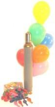 Luftballons und Helium für den Ballonflugwettbewerb und Ballonmassenstart