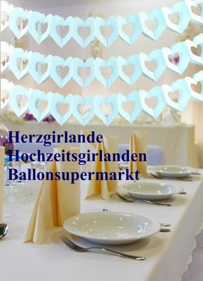 Hochzeit-Dekoration-Herzgirlanden