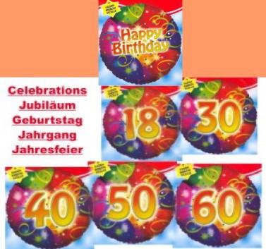 Herzlichen Glückwunsch mit Folienballons