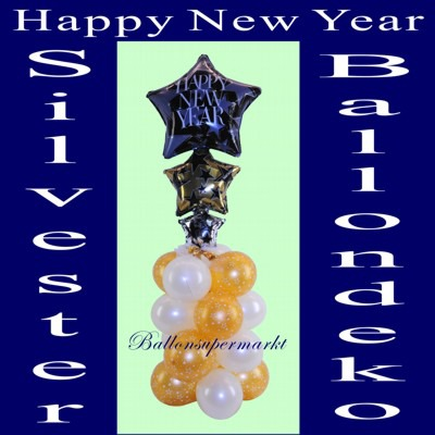 Happy-New-Year-Ballondeko-Silvester-Silvesterdeko