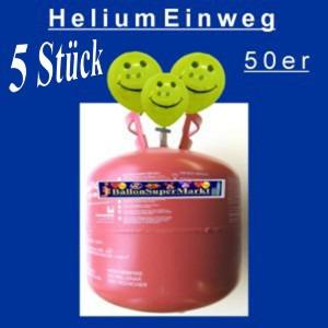 Helium-Einweg-50er-5 Stück