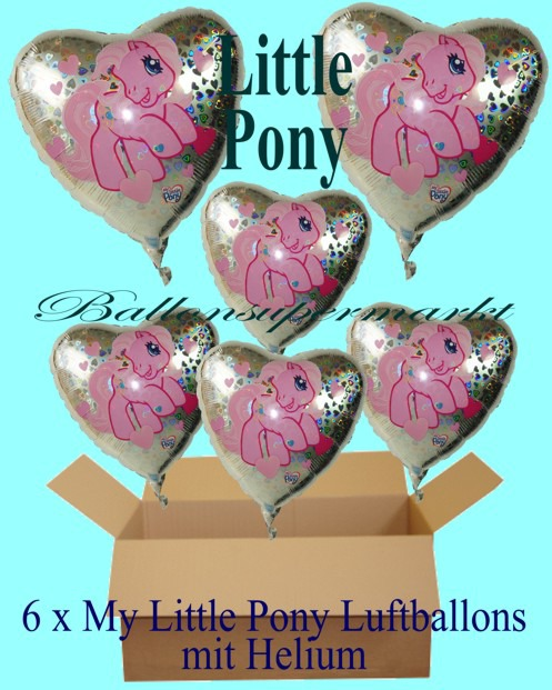 Geschenkidee-Kindergeburtstag-My-Little-Pony-Herzluftballons-mit-Helium