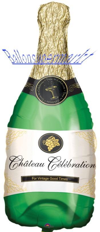 Silvester Luftballons, Silvester Dekoration, Sektflasche, Champagnerflasche