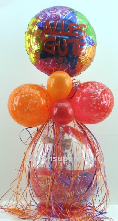 Geschenkballon, Stufferballon, Alles Gute, Viel Glueck
