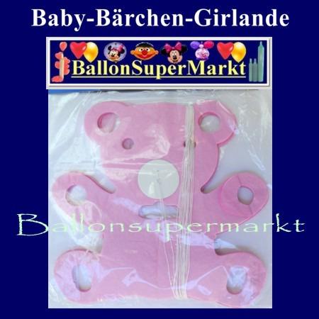 Baerchengirlande-Deko-Geburt-Taufe-Rosa